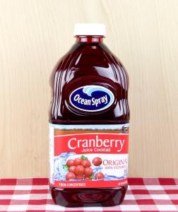 Bottle of Ocean Spray Cranberry Juice
