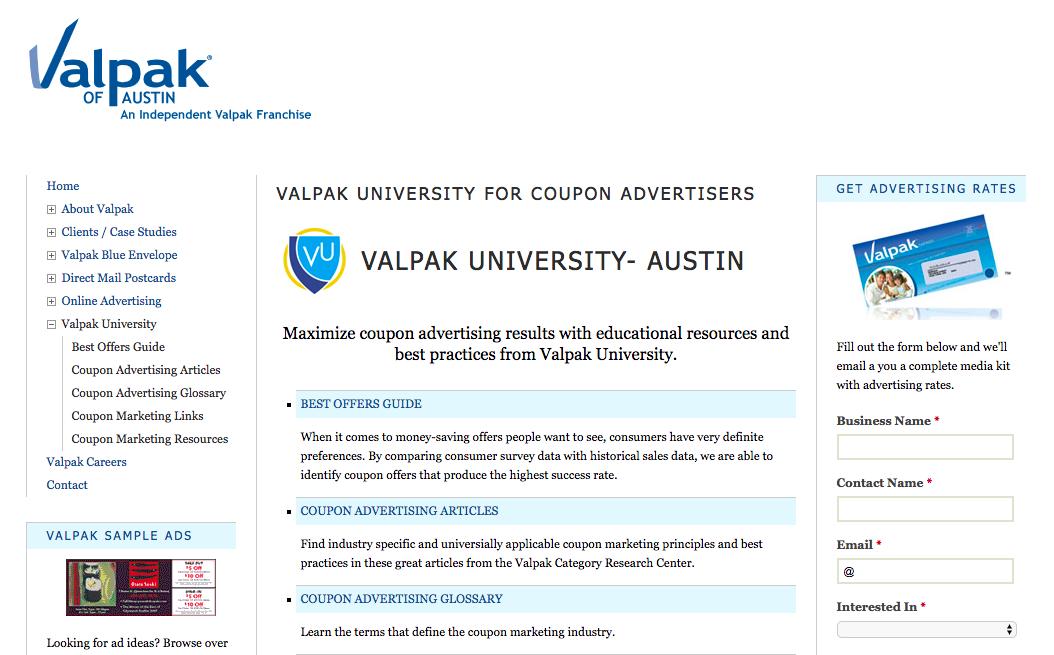 valpak advertiser website from wayback still hosts wealth of coupon rh davidwflash com Valpak Careers Valpak Fort Collins